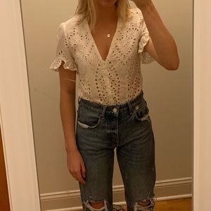 Eyelet top for Summer || Zara size M